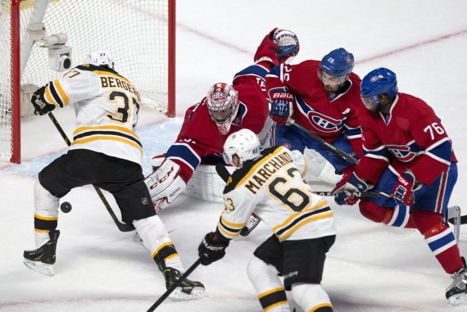 Les Bruins ont voulu sonner la charge, en vain. Ils ont été blanchi par un CH combatif. (PHOTO ROBERT SKINNER, LA PRESSE)
