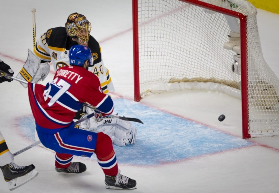 Le but de Max Pacioretty. (Photo André Pichette, La Presse)