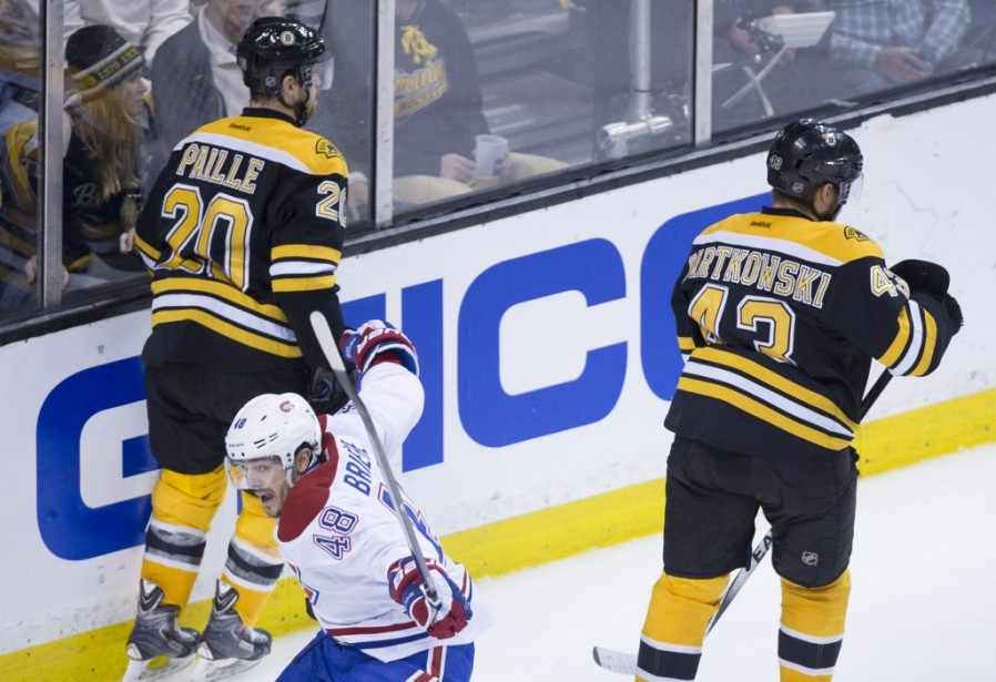 L'attaquant québécois a porté la marque à 3-1. (André Pichette, La Presse)