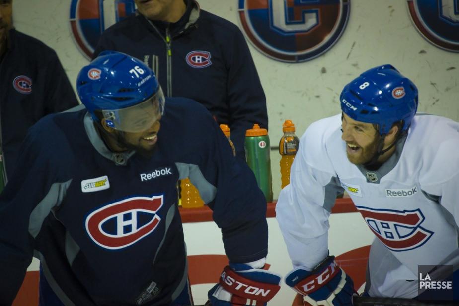 P.K. Subban et Brandon Prust, hier à l'entraînement.... (Photo André Pichette, La Presse)