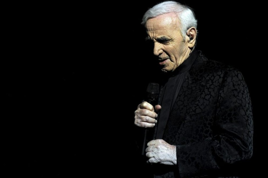 Charles Aznavour... (Photo: archives AFP)