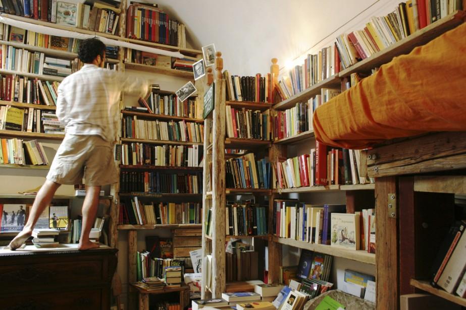La librairie Atlantis, située à Oia, dans l'île grecque de Santorin. (Photo fournie par Atlantis)
