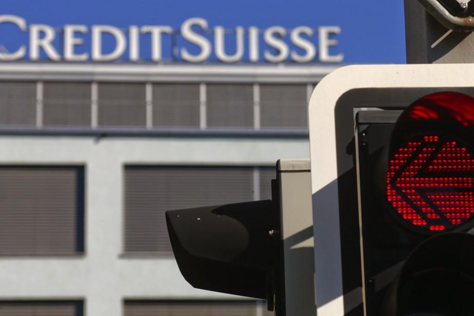 La banque helvétique Credit Suisse, condamnée à... (Photo ARND WIEGMANN, Reuters)