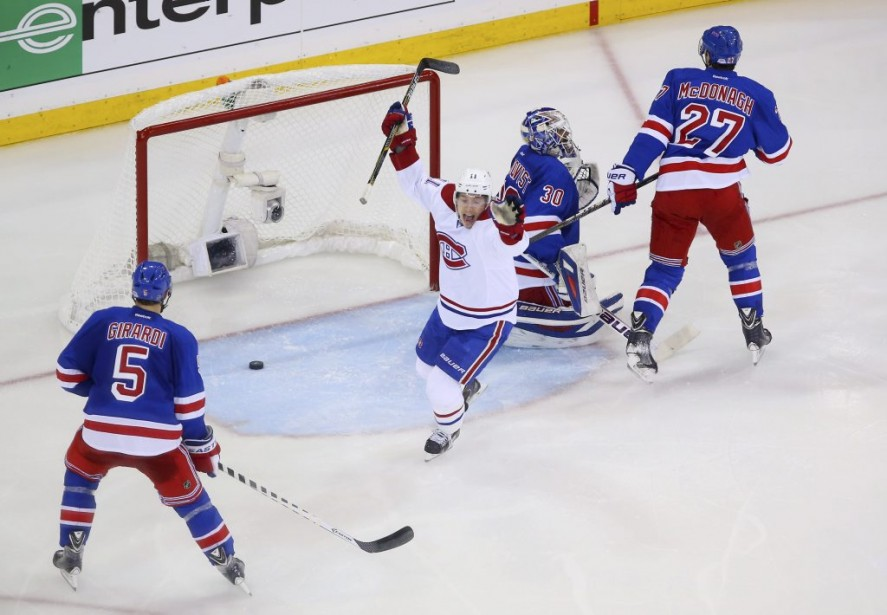 Gallagher, après le but de Markov. (Photo USA TODAY Sports)