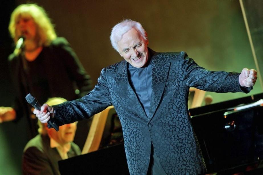 Charles Aznavour en spectacle à Berlin.... (Photo: AP)
