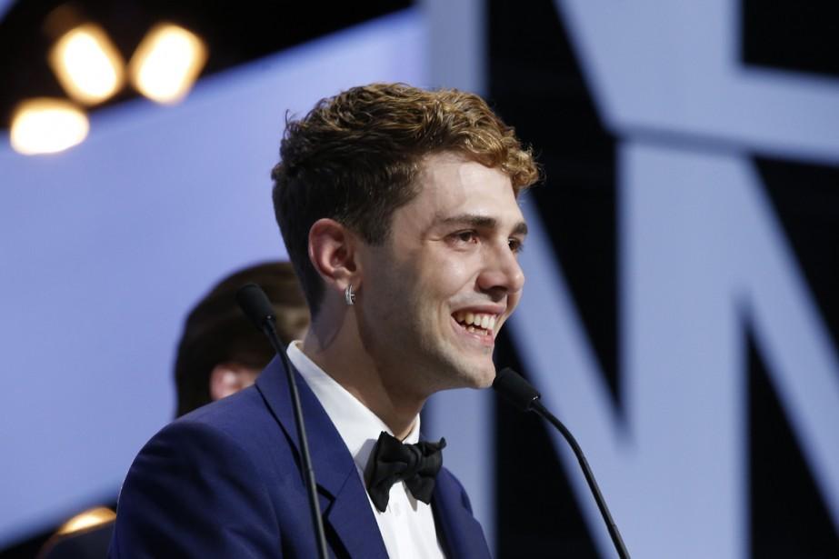 Xavier Dolan a remercié la présidente du jury, Jane Campion, pour l'avoir inspiré, avant de s'adresser aux jeunes de sa génération. (Photo Valery Hache, AFP)