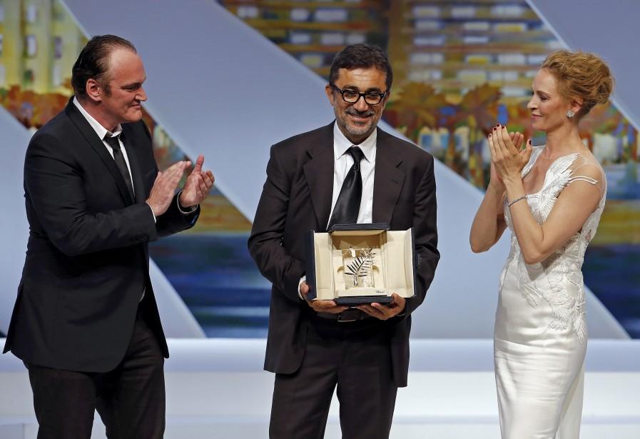 La Palme d'or a été attribuée samedi à Winter Sleep du réalisateur turc Nuri Bilge Ceylan, longue dissection psychologique d'un sexagénaire qui règne en maître sur un village d'Anatolie. (Photo AFP)