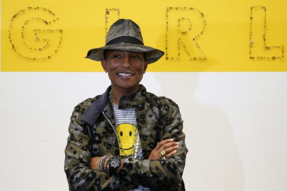 Pharrell Williams lors d'une conférence de presse à... (Photo: AP)