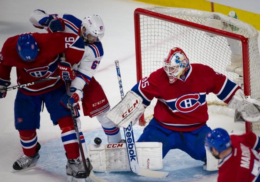 Photo; Andre Pichette / La Presse photo no: 680337-- Sports - Sujet: des Canadiens de Montreal contre des Rangers de New York pendant la première période d'action de la NHL au centre Bell. Serie demi-finale de la division. -30-23-05-2014 (André Pichette, La Presse)