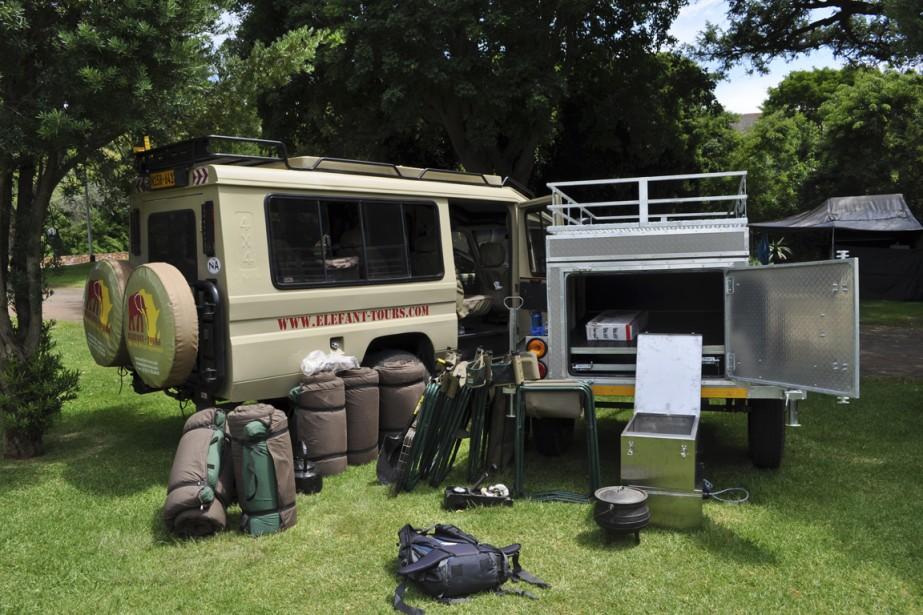 Le terrain de camping Letaba était bien équipé, avec prises électriques, four pour le charbon de bois et restos à proximité. (Photo Sylvie St-Jacques, La Presse)