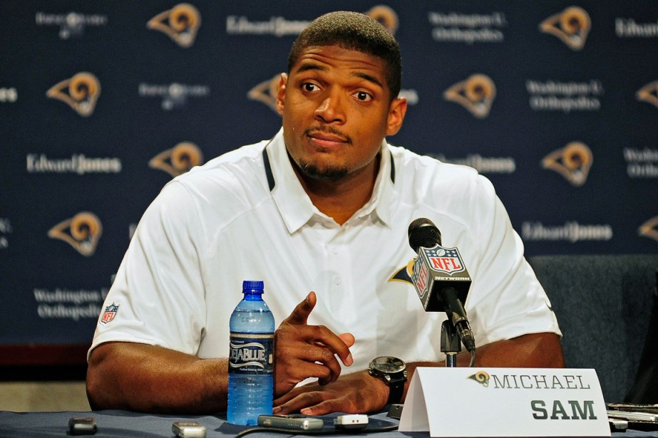 L'ailier défensif Michael Sam a été choisi en... (Photo Jeff Curry, USA Today)