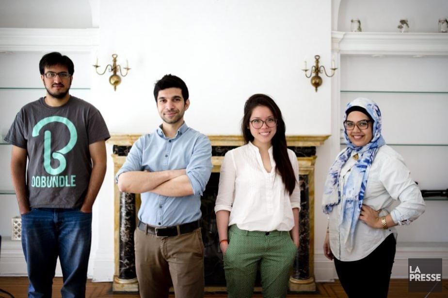 De gauche à droite: Usman Ehtesham Gul, Yezin... (PHOTO MARCO CAMPANOZZI, LA PRESSE)