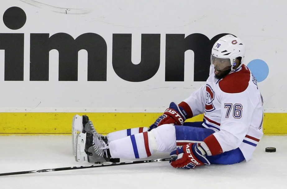 P.K. Subban, au sol. (Photo AP)