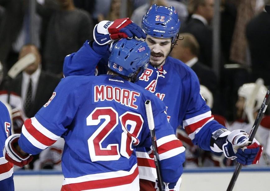 Les Rangers accèdent ainsi à la finale de la Coupe Stanley. (Photo AP)