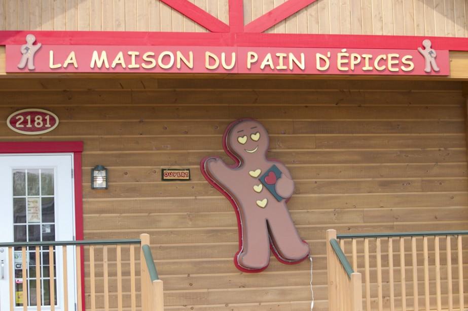 La Maison du pain d'épices, en plus d'offrir des biscuits en forme de petit bonhomme, sert le déjeuner, le dîner et des collations maison. (Photo Hugo-Sébastien Aubert, La Presse)