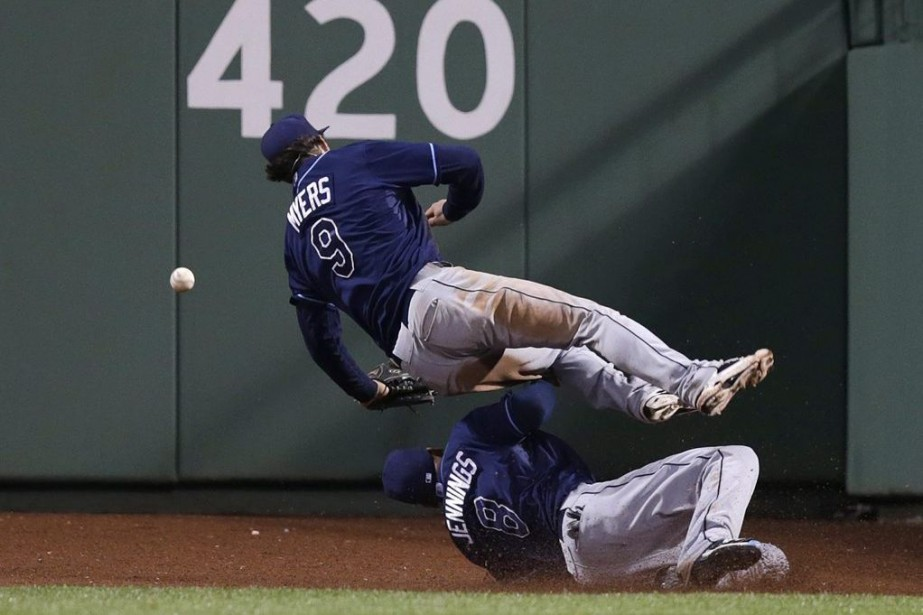 Wil Myers s'est blessé en donnant contre le... (Photo Charles Krupa, AP)