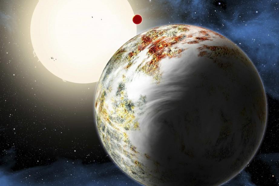 Cette méga-planète, nommée Kepler-10c, a un diamètre de... (Illustration REUTERS/Center for Astrophysics)