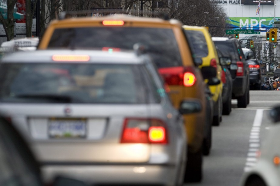 À Vancouver, le conducteur moyen empruntant un trajet... (Photo Jonathan Hayward, Archives PC)
