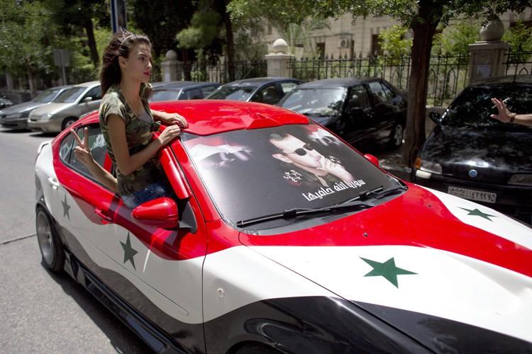 A Damas, où les rues étaient quasi désertes,... (Photo: AP)