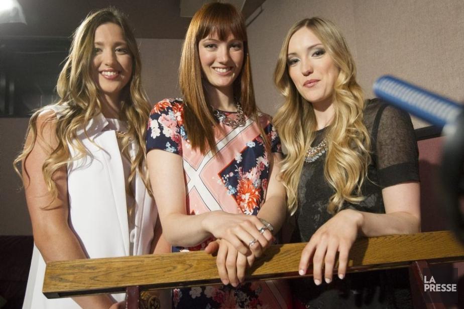 Les soeurs Dufour-Lapointe, Chloé, Maxime et Justine, en... (Photo: Olivier Pontbriand, La Presse)
