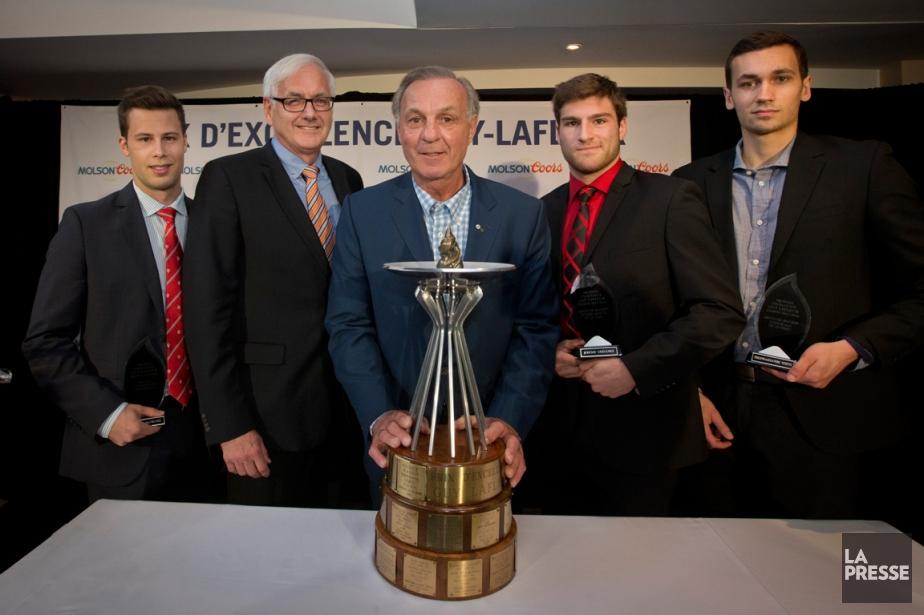 Cédric McNicoll, des Redmen de McGill, Daniel Dufresne,... (Photo Ivanoh Demers, La Presse)