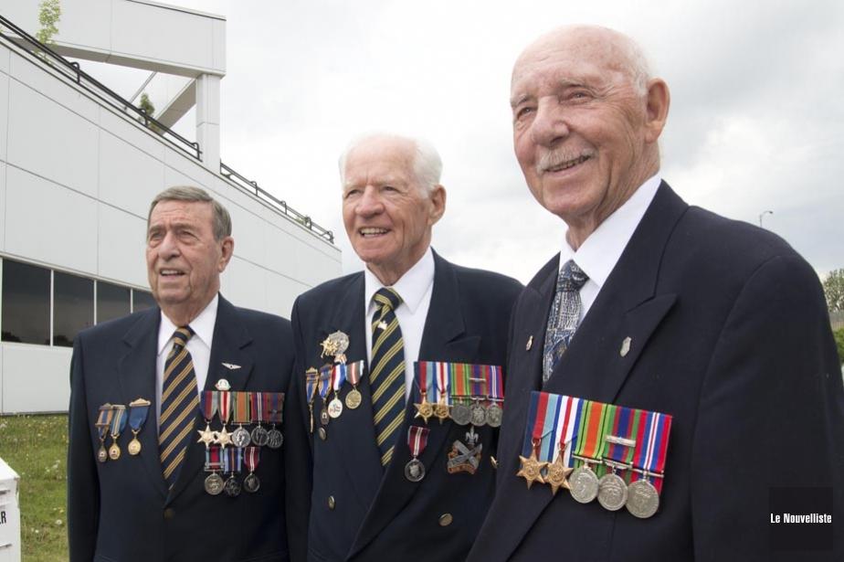 Des vétérans de la Deuxième guerre mondiale.... (Photo: Sylvain Mayer, archives Le Nouvelliste)