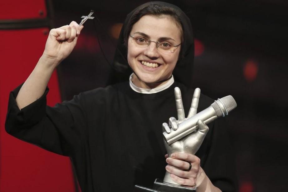 Soeur Cristina Scuccia a obtenu 62 pour cent... (Photo: AFP)