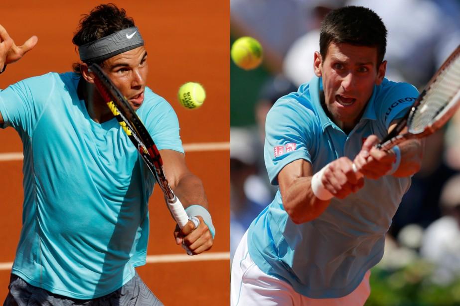 Rafael Nadal et Novak Djokovic ont accédé à... (Photos Reuters)