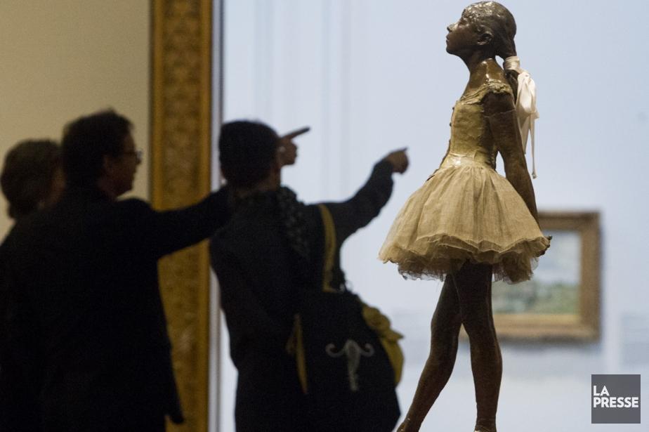 La sculpture intitulée La petite danseuse de 14... (Photo: Martin Chamberland, archives La Presse)