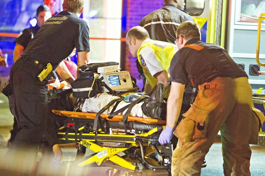 Le SPVM a confirmé la mort de l'homme,... (PHOTO FÉLIX O.J. FOURNIER, COLLABORATION SPÉCIALE)