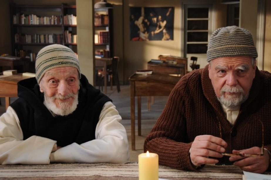Jacques Herlin (à gauche) et Michael Lonsdale.... (Photo: fournie par Métropole Films)