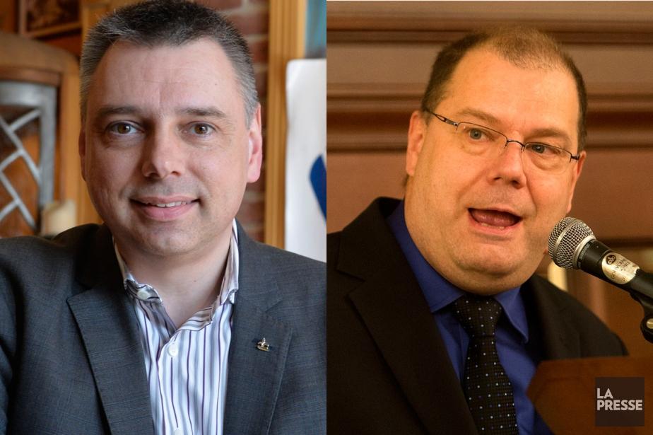 Les deux candidats à la chefferie, André Bellavance... (PHOTOMONTAGE LA PRESSE)