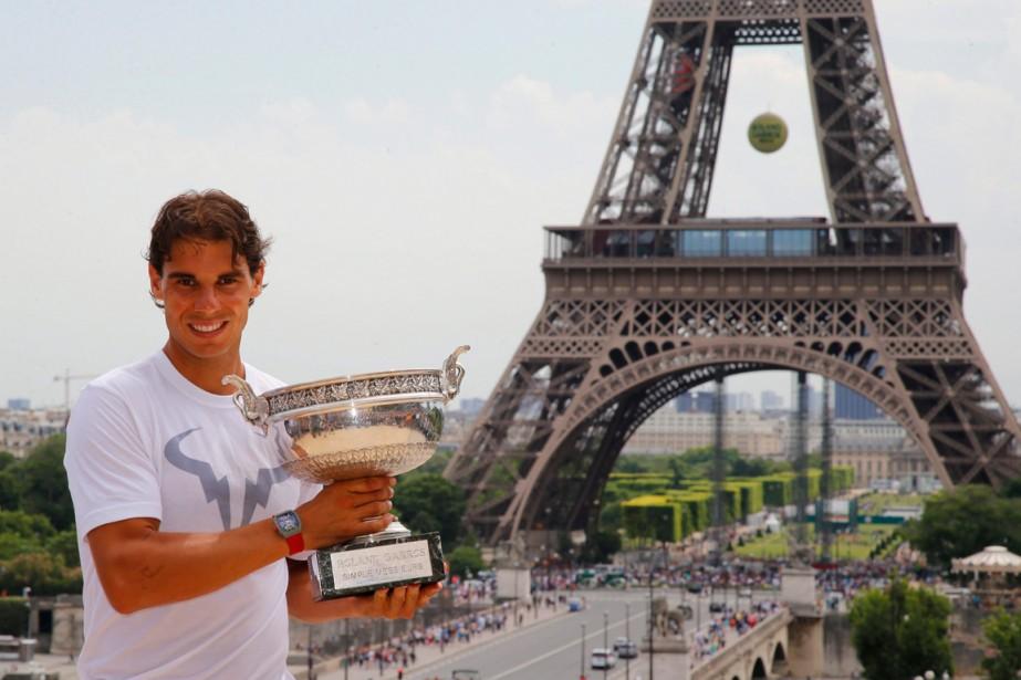 Au lendemain de sa victoire à Roland-Garros, Rafael... (Photo Francois Mori, AP)