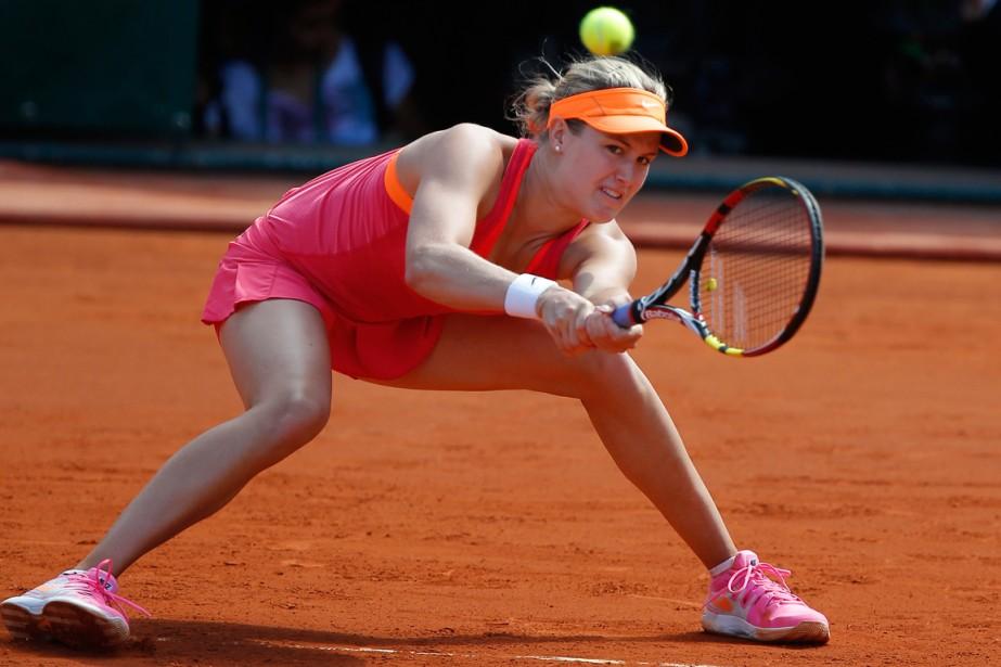 Eugenie Bouchard a atteint les demi-finales à Roland-Garros.... (Photo David Vincent, AP)