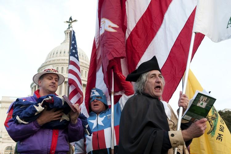 Un rallye du Tea Party à Washington en... (Archives AFP)