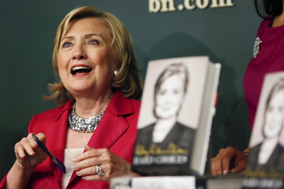 Le lancement des mémoires d'Hillary Clinton à New... (PHOTO SHANNON STAPLETON, REUTERS)