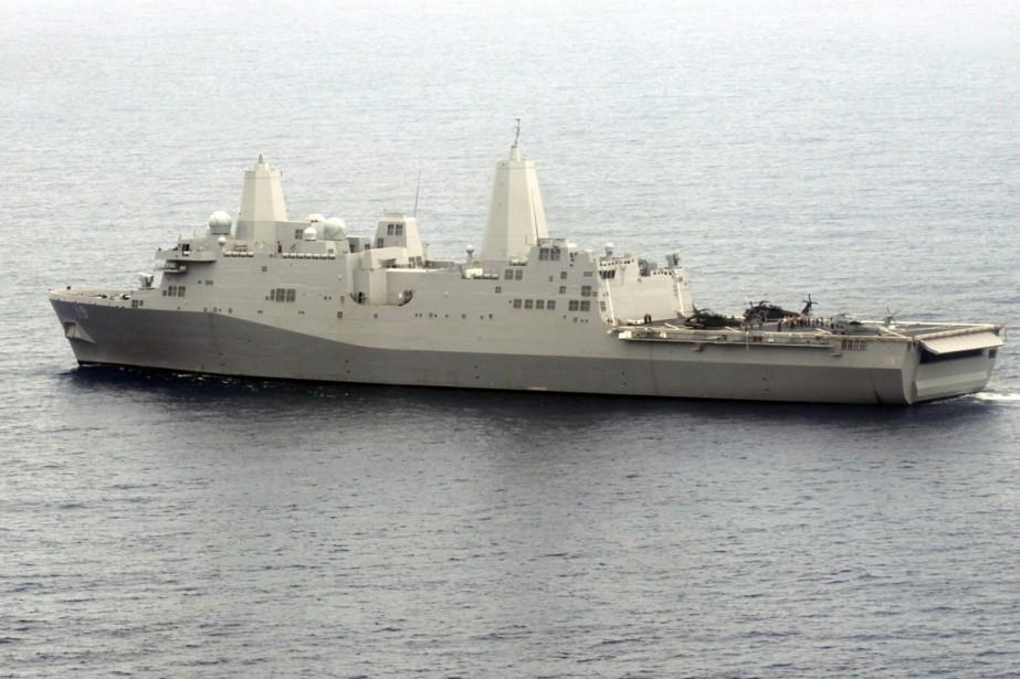 LeUSS Mesa Verde estun navire de classe San... (PHOTO ALBERTO LOWE, ARCHIVES REUTERS)