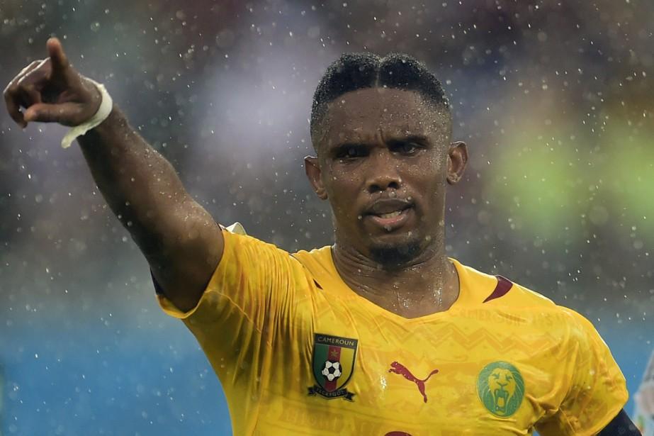 Le capitaine du Cameroun, Samuel Eto'o.... (Photo Pierre-Philippe Marcou, AFP)