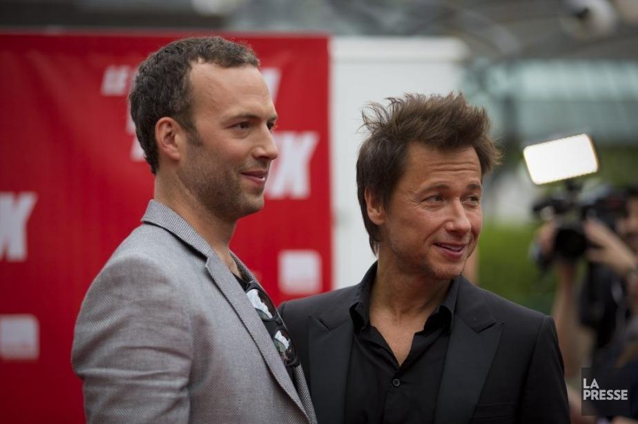 Mathieu Quesnel et Stéphane Rousseau sur le tapis... (Photo André Pichette, La Presse)