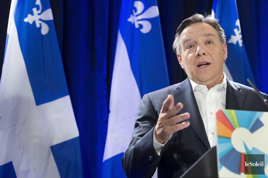 Le parti de François Legault est deuxième dans... (Photothèque Le Soleil)