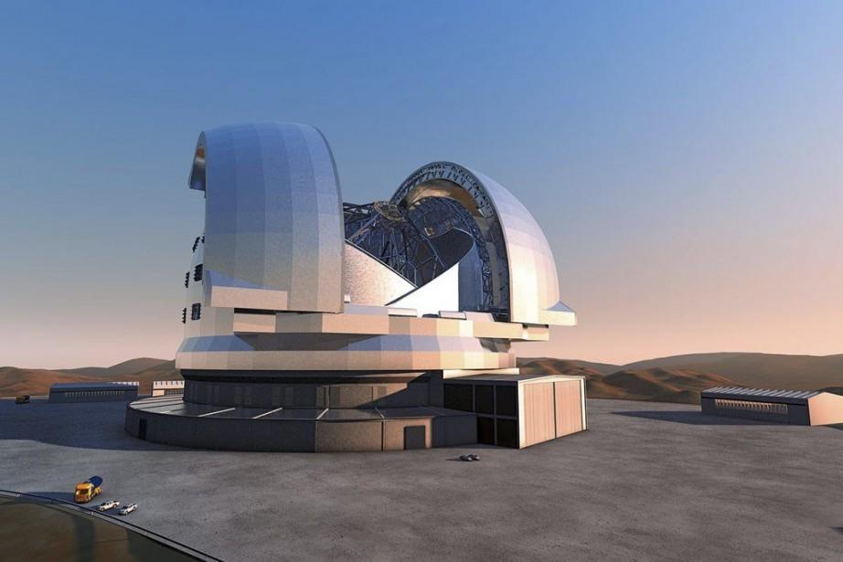 Une maquette du futur téléscopeE-ELT.... (Photo AFP)