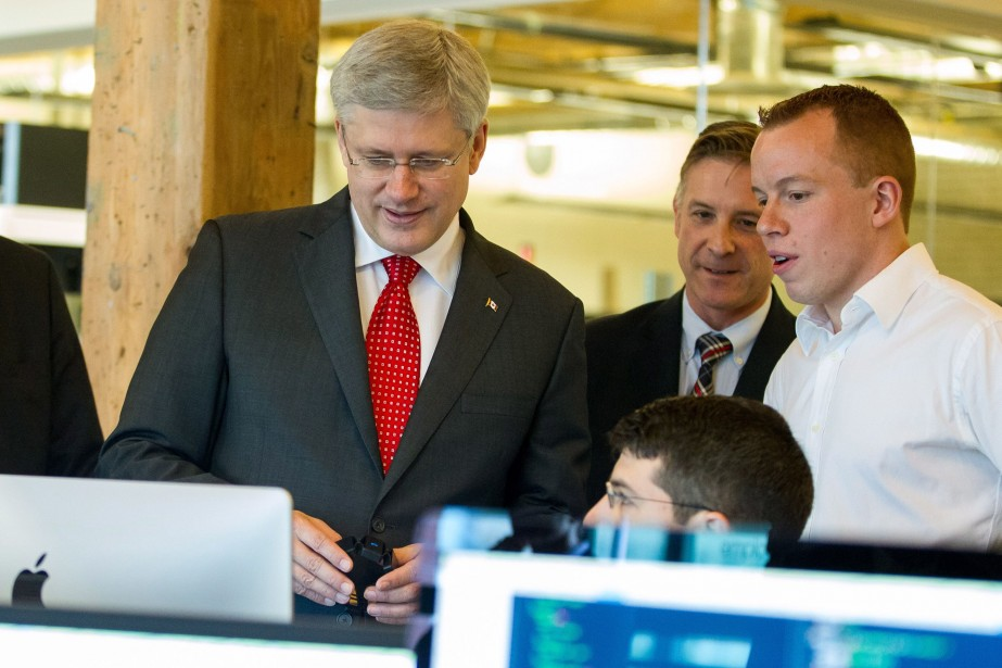 Le premier ministre du Canada, Stephen Harper... (Photo Geoff Robins, La Presse Canadienne)