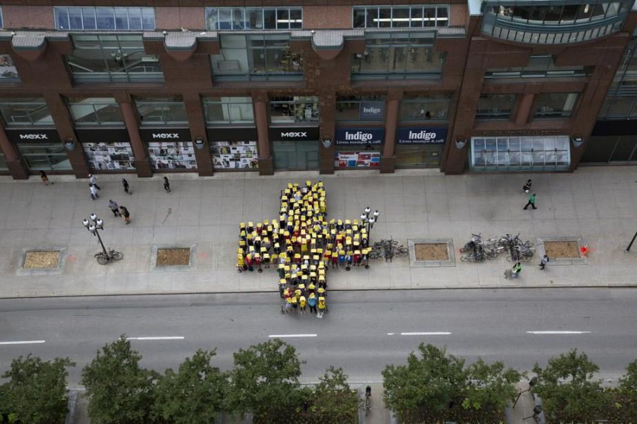 Cette année, quelque 47 500 marcheurs y ont... (Photo fournie par le Studio Bonnallie Brodeur)