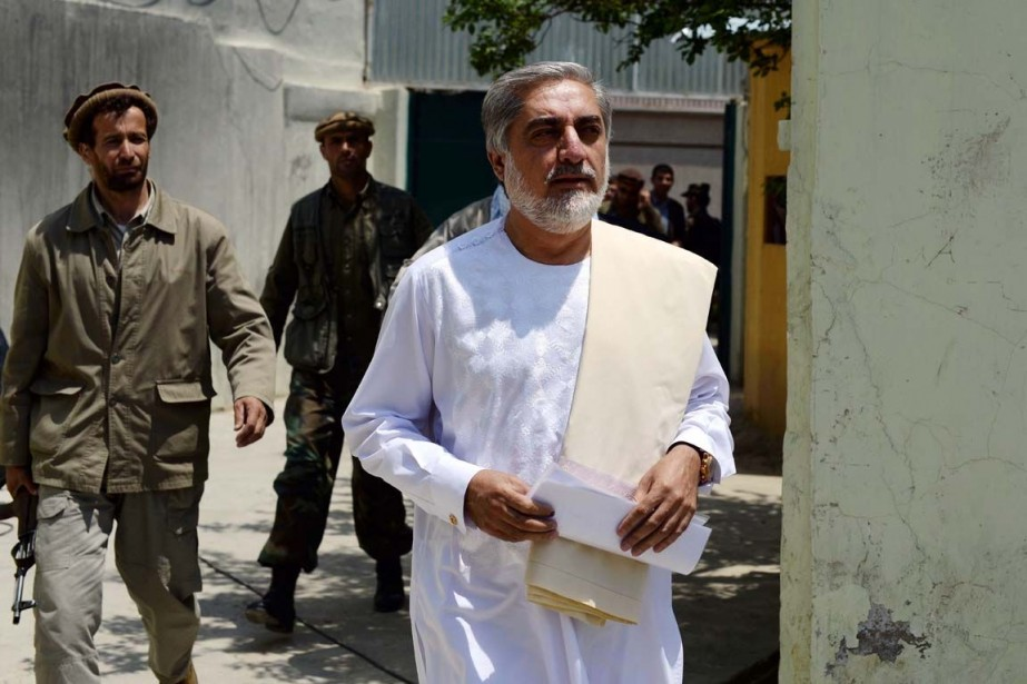 Abdullah Abdullah est arrivé en tête du premier... (PHOTO WAKIL KOHSAR, AFP)