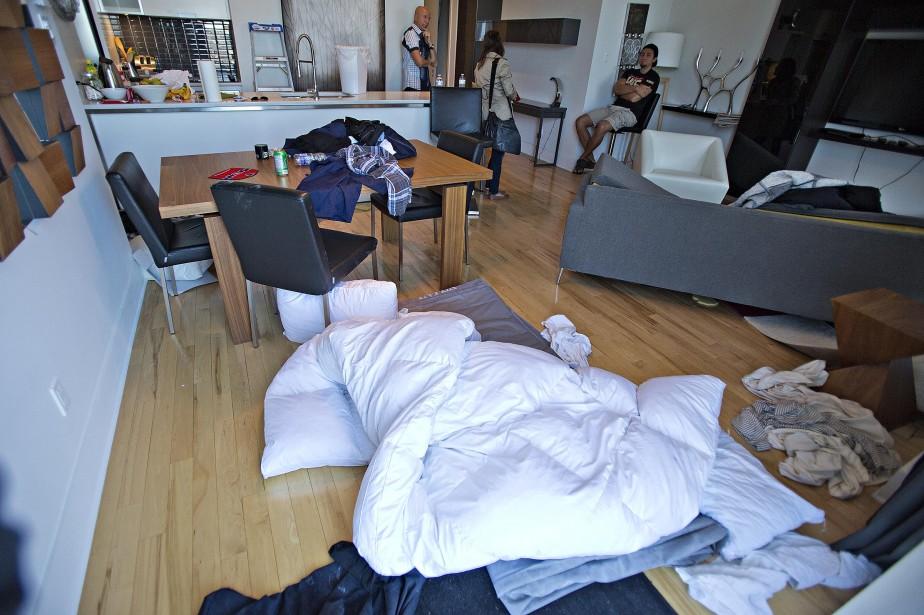 L'appartement où vivaient les trois évadés. (Photo Félix O.J. Fournier, Collaboration spéciale)