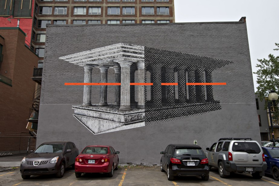 La murale de l'artiste Cyrcle (PHOTO OLIVIER JEAN, LA PRESSE)