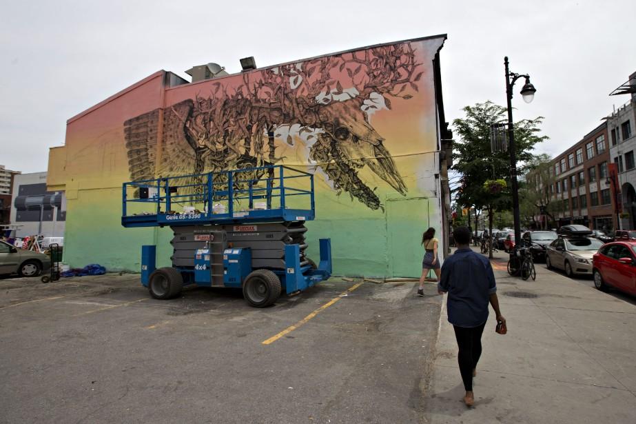 La murale de l'artiste Alexis Diaz (PHOTO OLIVIER JEAN, LA PRESSE)