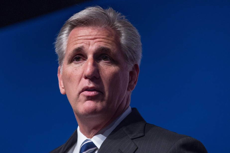 Kevin McCarthy,nouveau chef de la majorité républicaine de... (Photo NICHOLAS KAMM, AFP)
