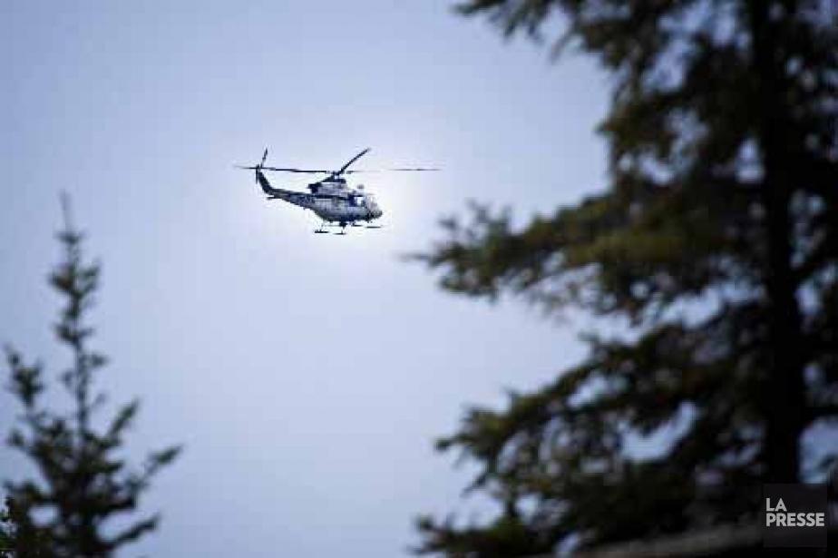 L'hélicoptère de la SQ.... (Photohèque La Presse)