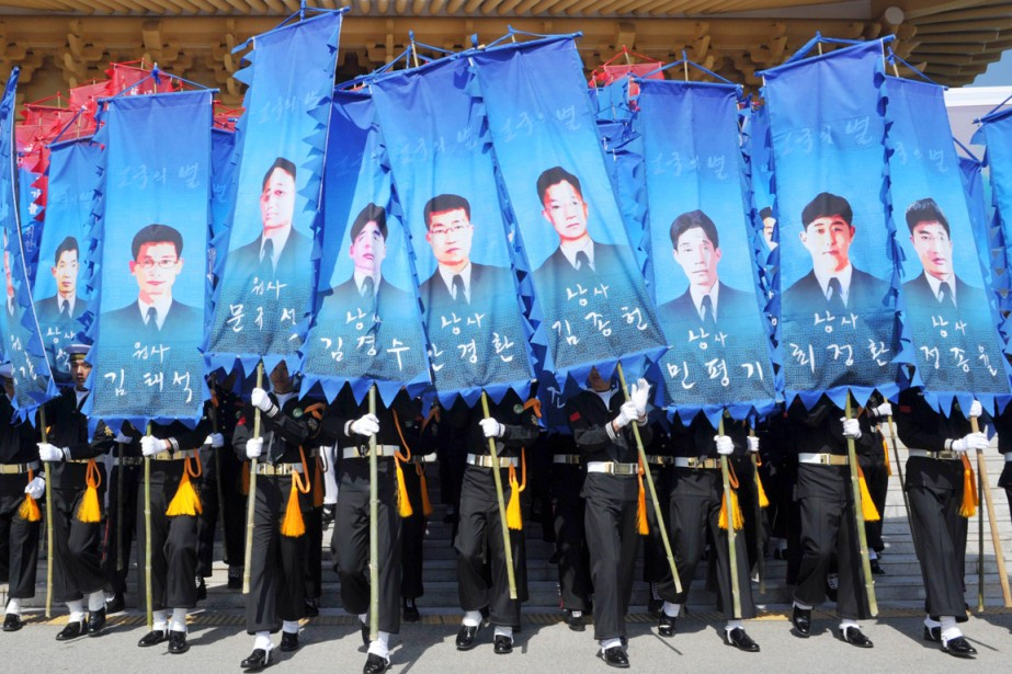 Le naufrage du Cheonan,le 26 mars 2010, avait... (PHOTO Kim JAE-HWAN, ARCHIVES REUTERS)